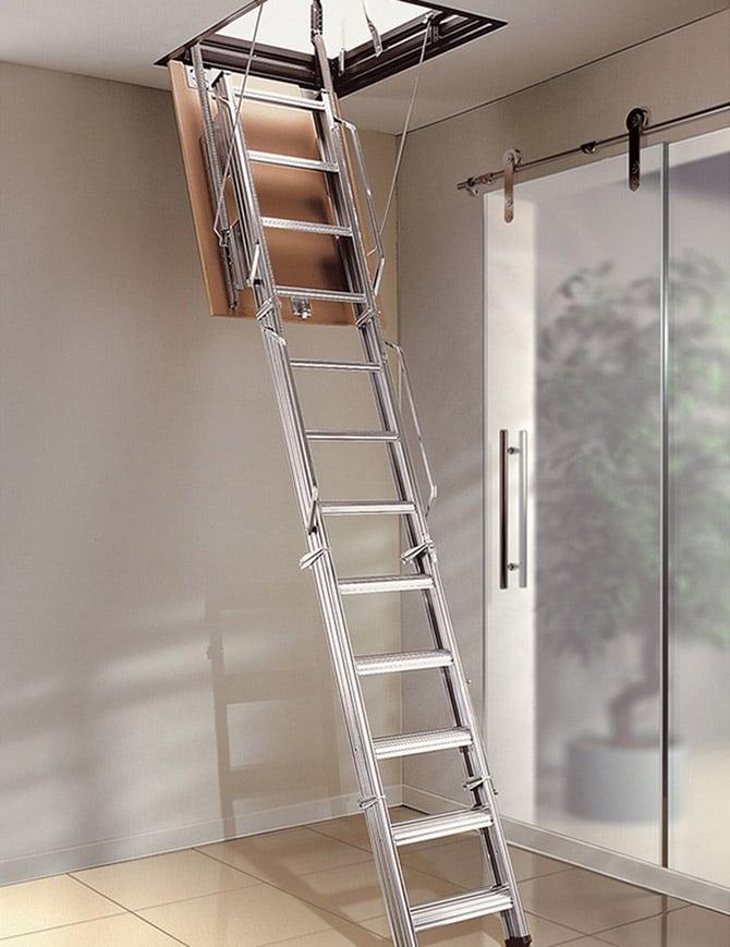 Escalera escamoteable de tramos PK4