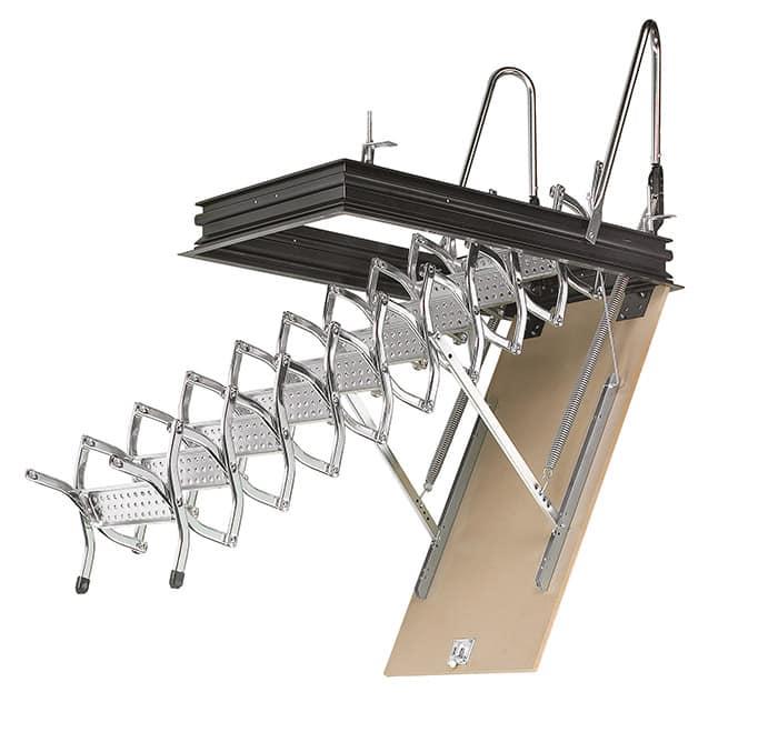 Escalera escamoteable de tijera ZX de techo