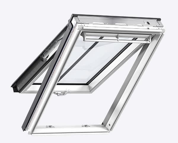 Ventana de tejado Velux proyectante blanca