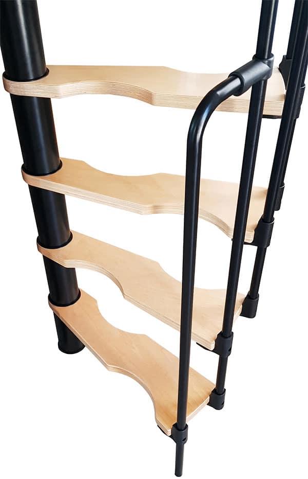 Detalle escaleras huecos reducidos SUONO