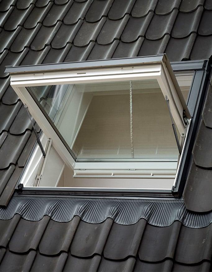 Exterior ventana VELUX para tejado