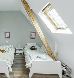 Detalle ventana para tejados Velux