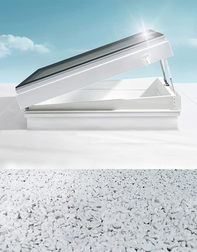 Skylux Motor Flex, la ventana para cubierta plana con zócalo recto de Maydisa